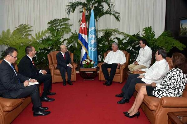 Cuban President receives IAEA Director General