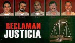 Cinco Antiterroristas cubanos presos en Estados Unidos