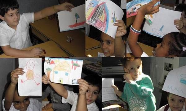 Niños de prescolar de la escuela primaria Jesús Menéndez.