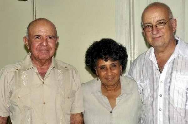 Perfecto Romero, Gladis Egüez y José Alejandro Rodríguez Foto: AIN.