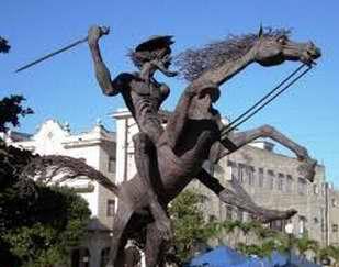El Quijote cabalga por La Habana