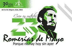 Un hommage à Fidel Castro dans les Romerías de Mayo