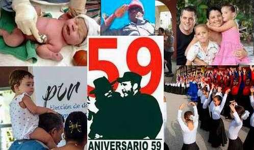 Cuba celebra el aniversario 59 de su Revolución soberana