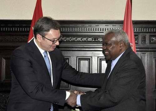 Recibió Esteban Lazo al presidente de Serbia