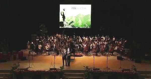 Velada cultural en Santiago de Cuba rindió tributo a Fidel