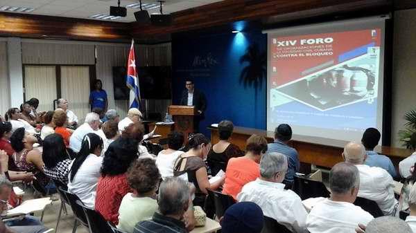 Foro de la Sociedad civil cubana denuncia bloqueo de EE.UU.